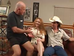 Perfect little tattooed hot wife gets fucked in all her holes as cuck watches