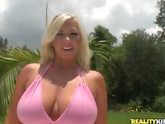 Fat Big Tits, BBW, Big Tits, Bikini, Blonde, Boobs