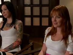 Lorelei Lee teaches hot redhead Marie McCray a good lesson in BDSM vid