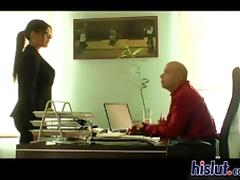 Office babe Natalia gets down with her boss