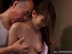 Nice Yui Hatano gets fucked late at night by an old dude