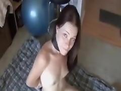 Bound wet cock slut