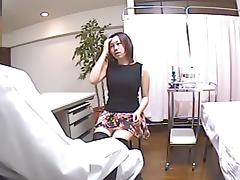 Sweet Asian vixen is getting her cum hole fucked by doctor