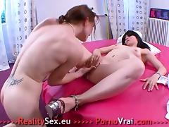 Two lovely French Teen Lesbian tube porn video