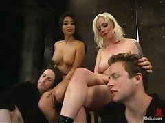 Foursome, BDSM, Bondage, Facesitting, Femdom, Foursome