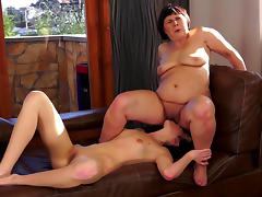 Sensual old and young lesbian couple tube porn video
