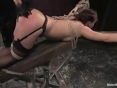 Katja Kassin enjoys being spanked and drowned in this hot BDSM scene