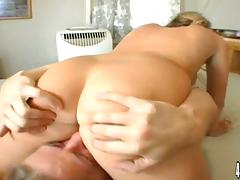 Blonde Sophie Dee with Natural Tits Getting Her Shaved Pussy Fucked