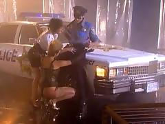 POlice officer is fucking two whores on the street porn tube video