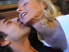 Blonde Laura Conti gets a funny threesome