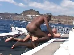 Franco Cento & Sandro on a boat porn tube video
