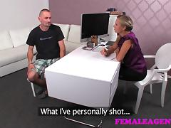 FemaleAgent: Mutual masturbation in casting interview tube porn video