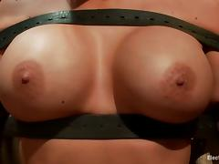 Big Boobed Phoenix Marie Toyed while Strapped to a Chair in Lez Femdom