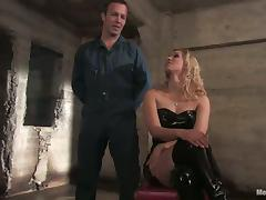 Isis Love the kinky mistress humiliates a guy and rides his dick