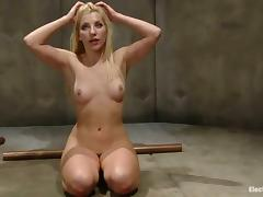Blonde Ashley Fires Toyed and Dominated in Bondage Lesbian Video tube porn video
