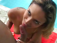 Bikini, Babe, Bikini, Blowjob, Brazil, Handjob