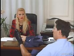 Office, Anal, Blonde, Blowjob, Couple, Cowgirl