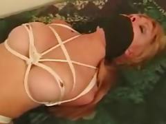 Choking, BDSM, Bed, Blonde, Bound, Choking