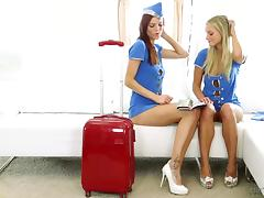 flight attendants fuck tube porn video