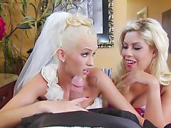 Bride, Big Tits, Blonde, Blowjob, Boobs, Bride