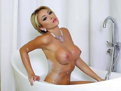 Bathing, Bath, Bathing, Bathroom, Big Tits, Blonde