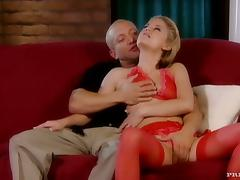 Two bosomy blondes enjoy amazing DPs in a stunning foursome scene