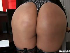 Cielo the busty Latina gets rammed on a table in POV video