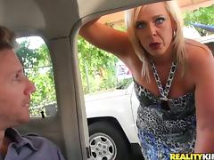 Carey Riley the slutty MILF has wild sex with younger dude