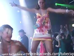 posh party girl getting naked in back room of club