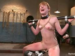 Kinky Claire Robbins gets bounded and fucked in her ass porn tube video