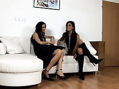 Cute babes caress on cam