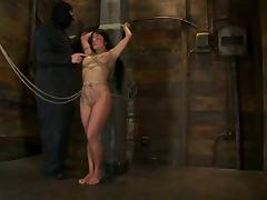 Severe bondage session for a petite brunette honey Mahina