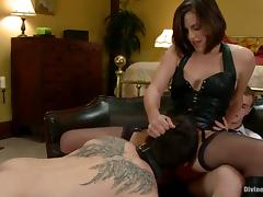 Cuckold Gets Strapon Fucked By Bobbi Starr in Femdom Video