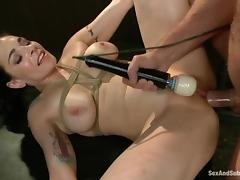 Passionate Annika is being nailed deep in BDSM