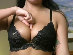 Pretty Chloe shows off her nice big boobies