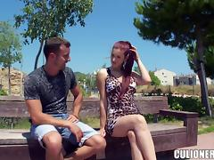 Gorgeous Mira gets fucked on a table outdoors
