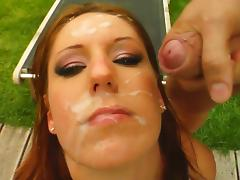 Suzane's face gets covered with sperm after sex tube porn video