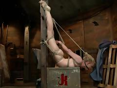 Lovely Tracey Sweet gets pinched and tortured with clothespins