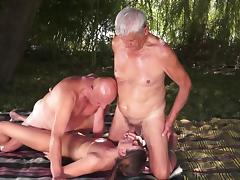 Old guys are fucking with shared young slut tube porn video