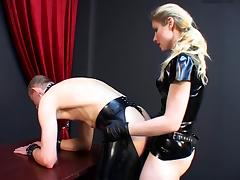 German mistress humiliates slave. tube porn video