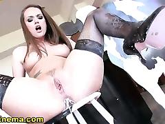 Milk enema bitch toys her ass tube porn video