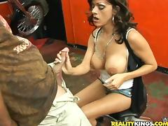 Biker, Big Tits, Biker, Blowjob, Couple, Handjob