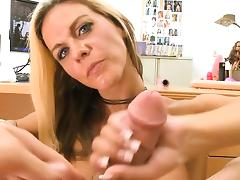 Beauty is sucking cock hungrily
