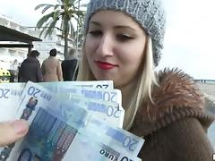 Money, Blonde, Blowjob, Couple, Cowgirl, Cum in Mouth