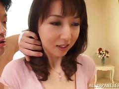 Horny Japanese slut rides her client