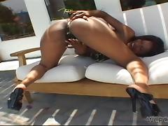 bouncing her ass on a big cock