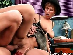 Aged, Aged, Blowjob, Brunette, Dirty, Granny
