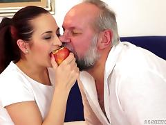 Lustful Tessy have passionate sex with some old fart tube porn video