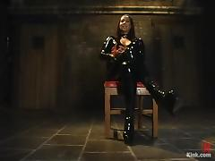 Kinky Brunette Isis Love in Latex Outfit Getting Fucked in BDSM Sex Vid