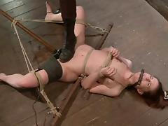 Bound AnnaBelle Lee gets toyed rough by a mistress